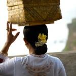 Offrandes equilibrees - Pura Luhur - Uluwatu - Bali