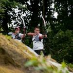 Du haut - Championnat France Tir Campagne - Auvers St Georges