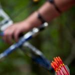Fleche encochee - Championnat France Tir Campagne - Auvers St Ge
