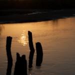 Lever de soleil sur le bolong - Casamance - Senegal