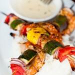 Brochette de crevettes 'buba' -  Santa monica - Californie