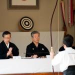 Face aux maitres de Kyudo - Japon