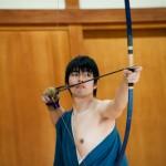 Kai en joue -  Kyudo - Japon