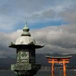 Lanterne et Torii de Miyajima - Japon