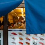 Sushi au Tsukiji market - Tokyo