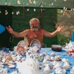 Marchand de coquillages sur l'île de Gramvousa - Crete