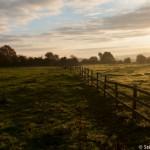 Lever de soleil sur les cotswolds - England