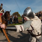 Neal devant la garde republicaine - 600 ans de la bataille d'Azi