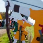 Ligne d'archers - 600 ans de la bataille d'Azincourt 1415