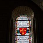 Croix des templiers - Vitraux de la nef de l'eglise abbatiale royale de Fontevraud