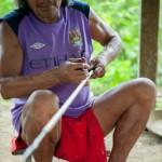 Renaud Sakeu artisan d'arc - Guyane