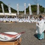 Le pretre et les offrandes - Mikazuki shinji - Kuzaki - Japon