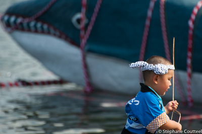 L'enfant et la baleine - Kujira matsuri - Osatsu - Japon