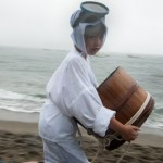 Jeune fille habillée en Ama avec Iso oke -Shirongo matsuri - Su