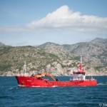 Bateau rouge - Lysefjord - Norvege