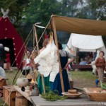 A table au Festival viking - Avaldsnes Karmoy - Norvege