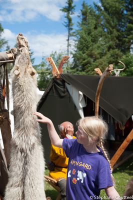 Le loup et l'agneau - Festival viking - Avaldsnes Karmoy - Norve