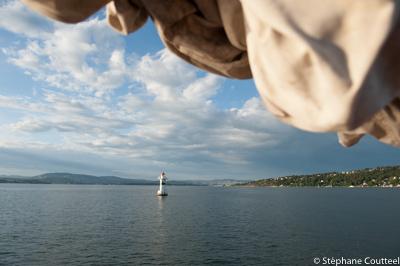 Phare dans le Fjord d' Oslo - Norvege
