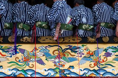 Dans le char - Gion matsuri - Kyoto - Japon