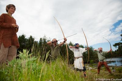 Concours d'archers - Festival viking - Avaldsnes Karmoy - Norveg