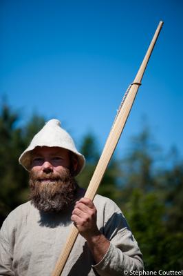 Portrait de Jan egil avec son arc - Festival viking - Avaldsnes