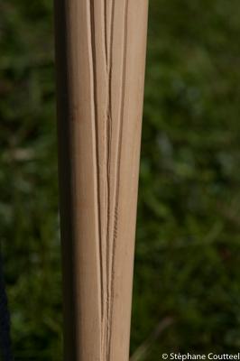 Motif sur longbow - Festival viking - Avaldsnes Karmoy - Norvege