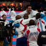 Equipe de France kumité par équipe championne du monde - Paris 2012