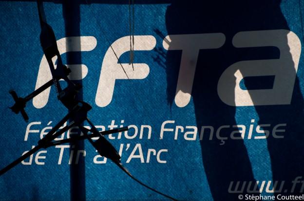 Banderole  FFTA lors d'une compétition