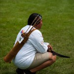 Concentration indienne - archere du Colorado - Compétition arc 3D  JAAN 2017