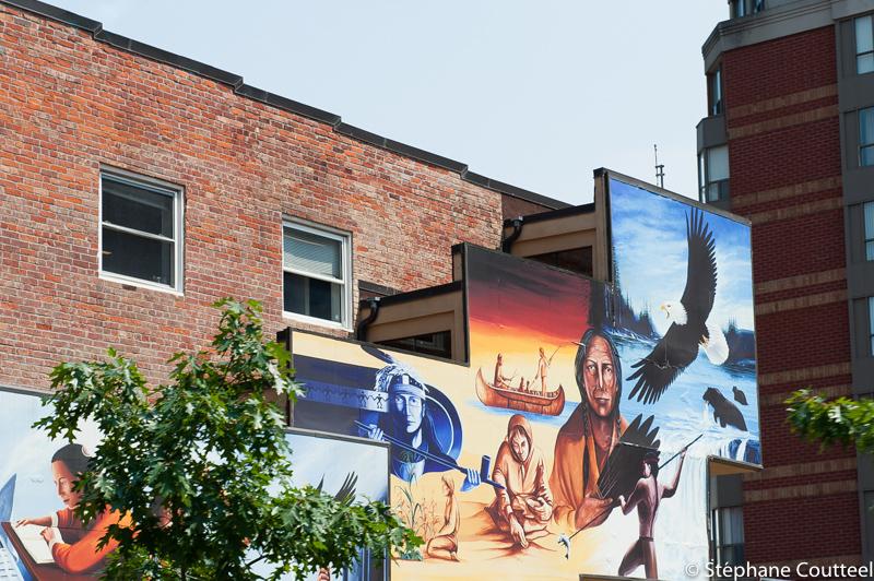 Street art  autochtone - Toronto - Canada