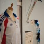 La  poignée d'arc Yamaha du champion olympique Sebastien Flute en 1990-  Musee de l'archerie Crépy en valois