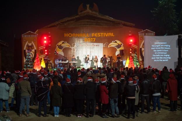 Chant de Noël au Nagaland - Inde