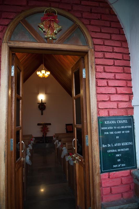 La chapelle de Kisama décorée pour Noël