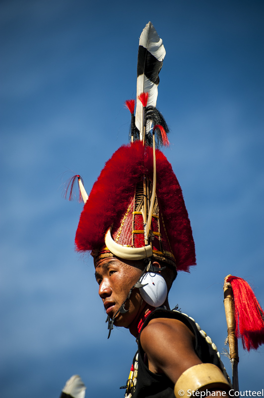Guerrier Naga au Hornbill festival