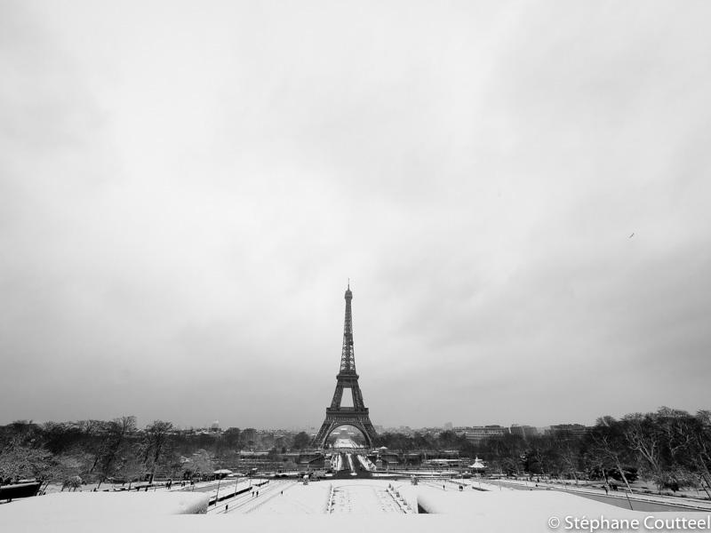 Tour Eiffel matin d'hivers