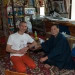 Lors de mon reportage avec Dr hanshi Tetsuhiro Hokama