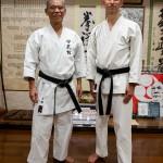 Avec le maitre Yasuhiro Uema dans son dojo - Naha- Okinawa