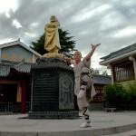 Youli dans le monastere  Shaolin - Dengfeng